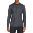 Tallia Men's Slim-Fit Mercerized Paisley Long Sleeve Henley Black Size Medium for $94