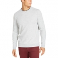 Tasso Elba Men's Crossover Sweater Gray Size Small for $94