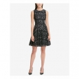 Tommy Hilfiger Women's Lace Fit & Flare Dress Silver Size 8 for $219