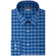 Van Heusen Men's Fit Flex Collar Check Dress Shirt Blue Size 36-37 for $94