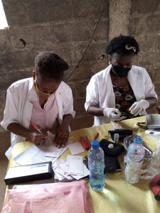 Nurses at work in one of his outreach Matogboun in