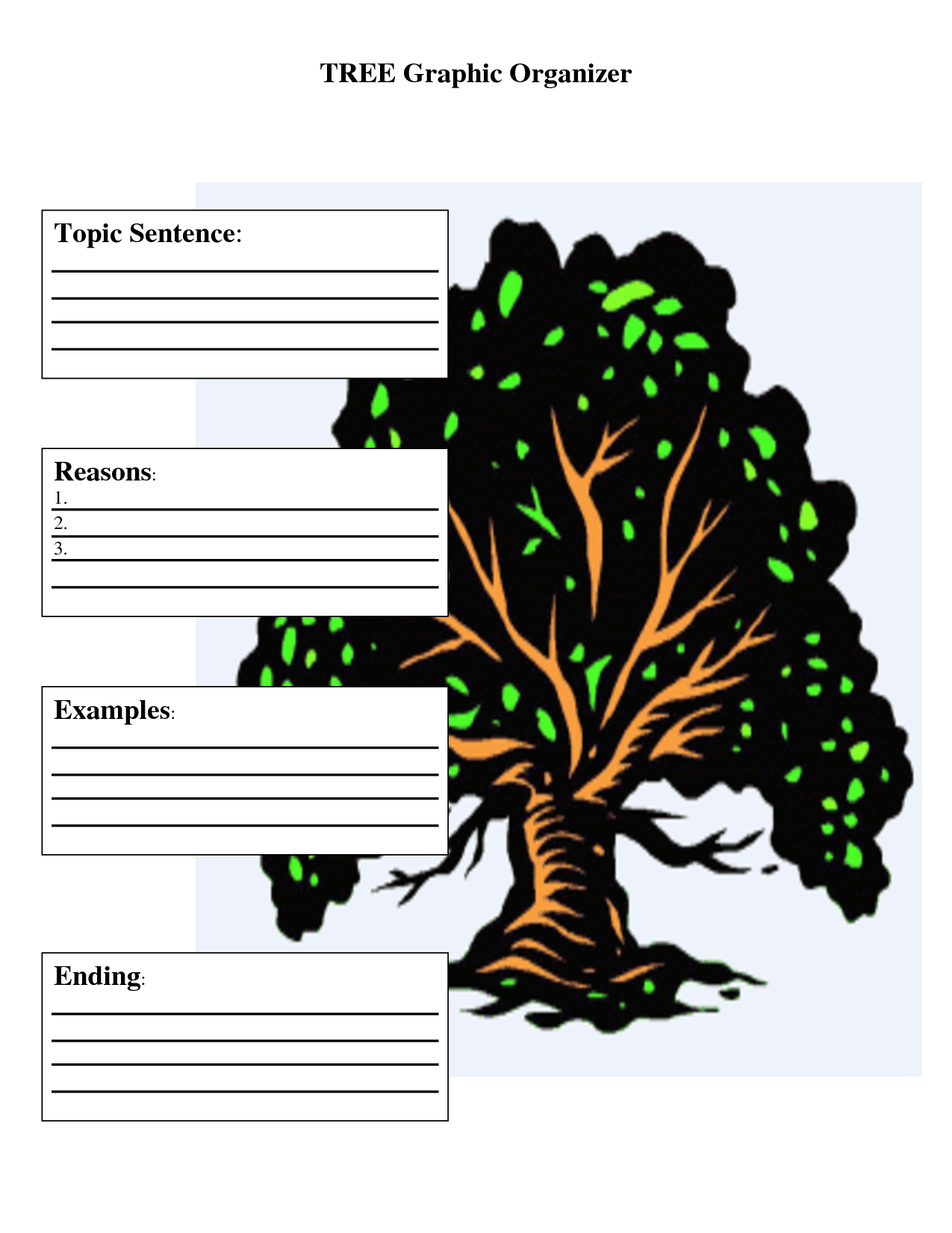 tree graphic organizer template 7 best images of timeline graphic