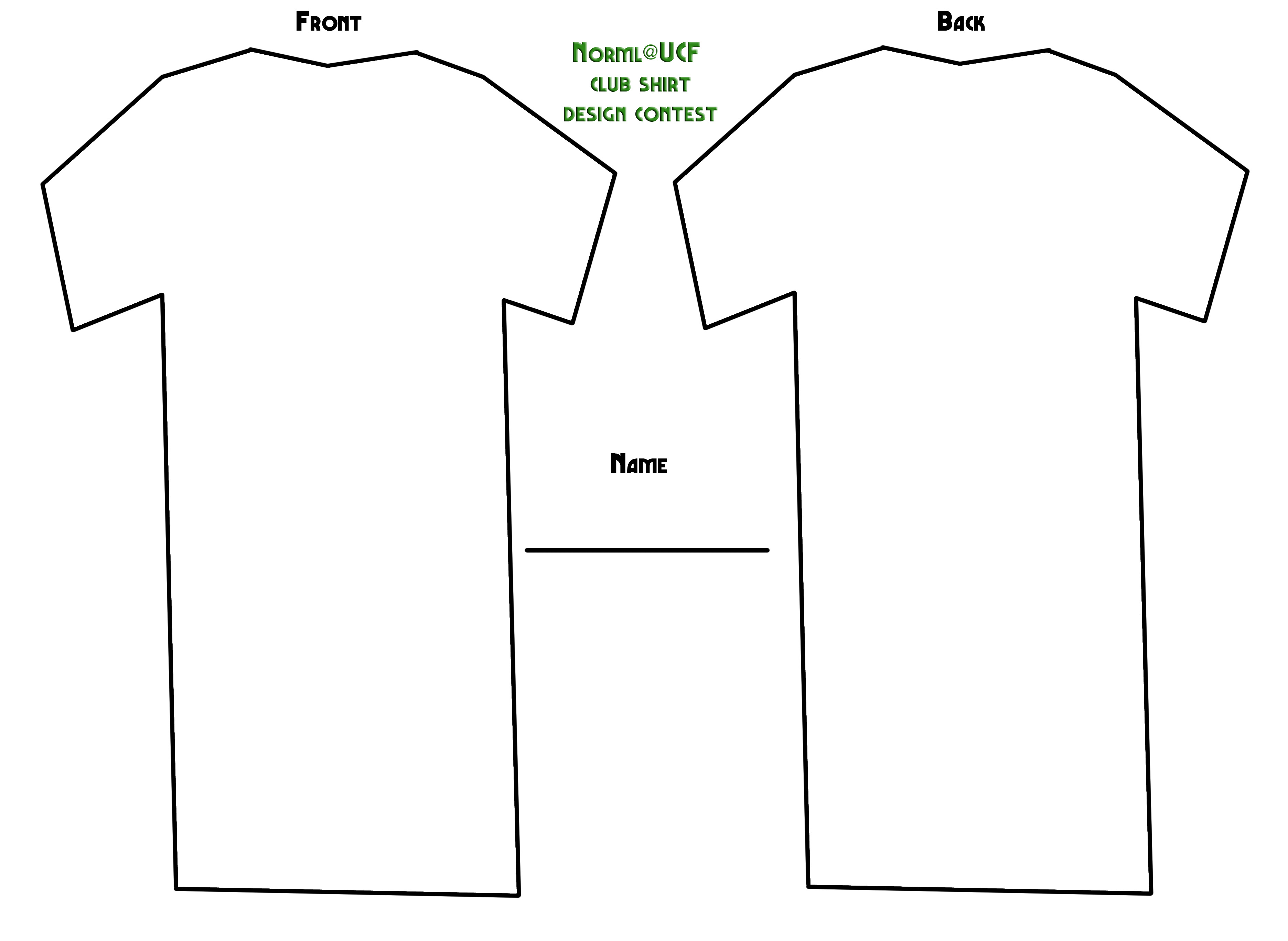 12 Printable T Shirt Template Images