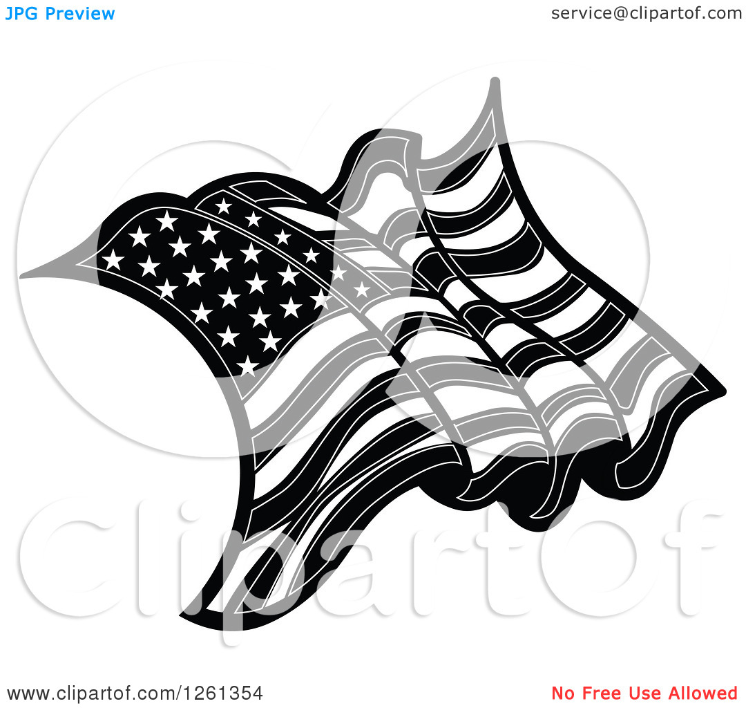 14 Black And White American Flag Vector Free Images