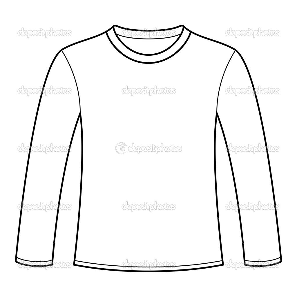 Buy Long Sleeve T Shirt Vector Template