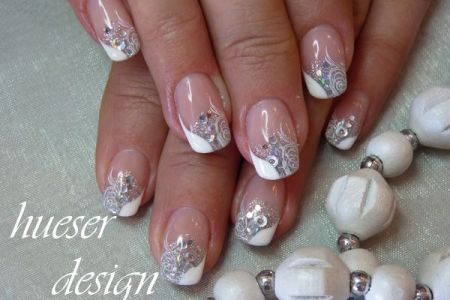 White And Silver Nail Designs 4k Pictures 4k Pictures Full Hq