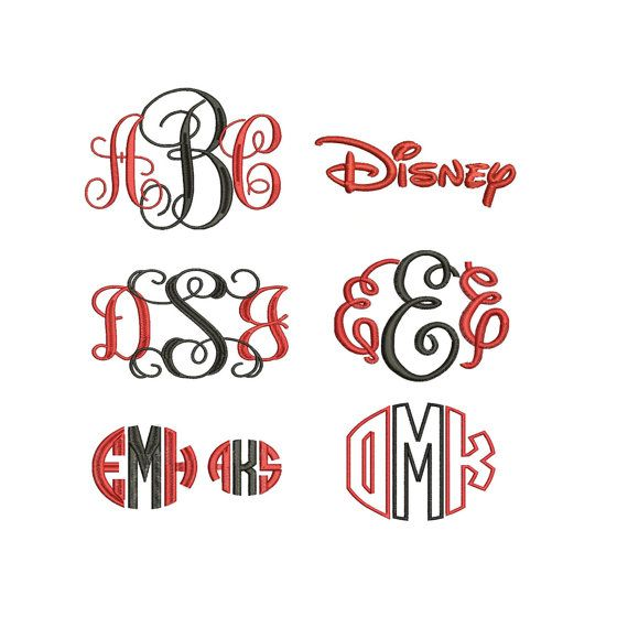 Download 18 Embroidery Fonts 6 Images - Embroidery Font Designs ...