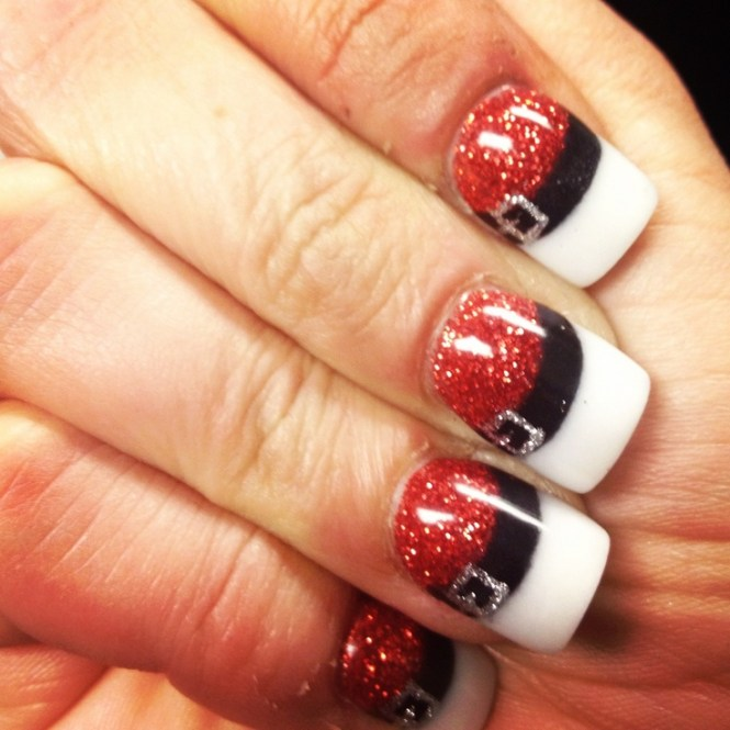 Let It Snow Christms Nail Art
