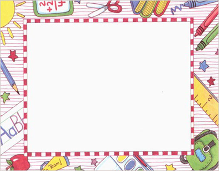 school paper borders – Border Paper Template