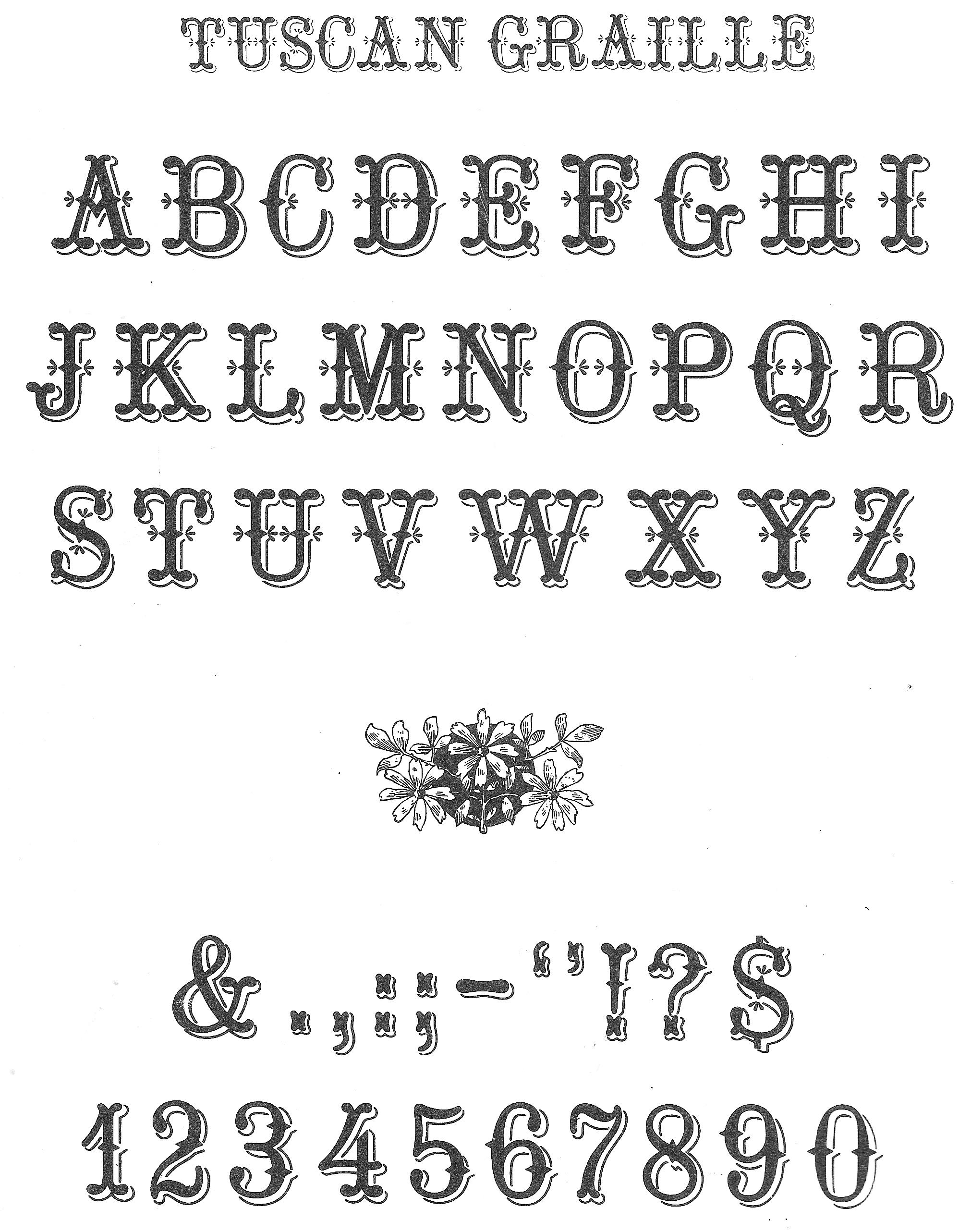 8 Victorian Script Font Images