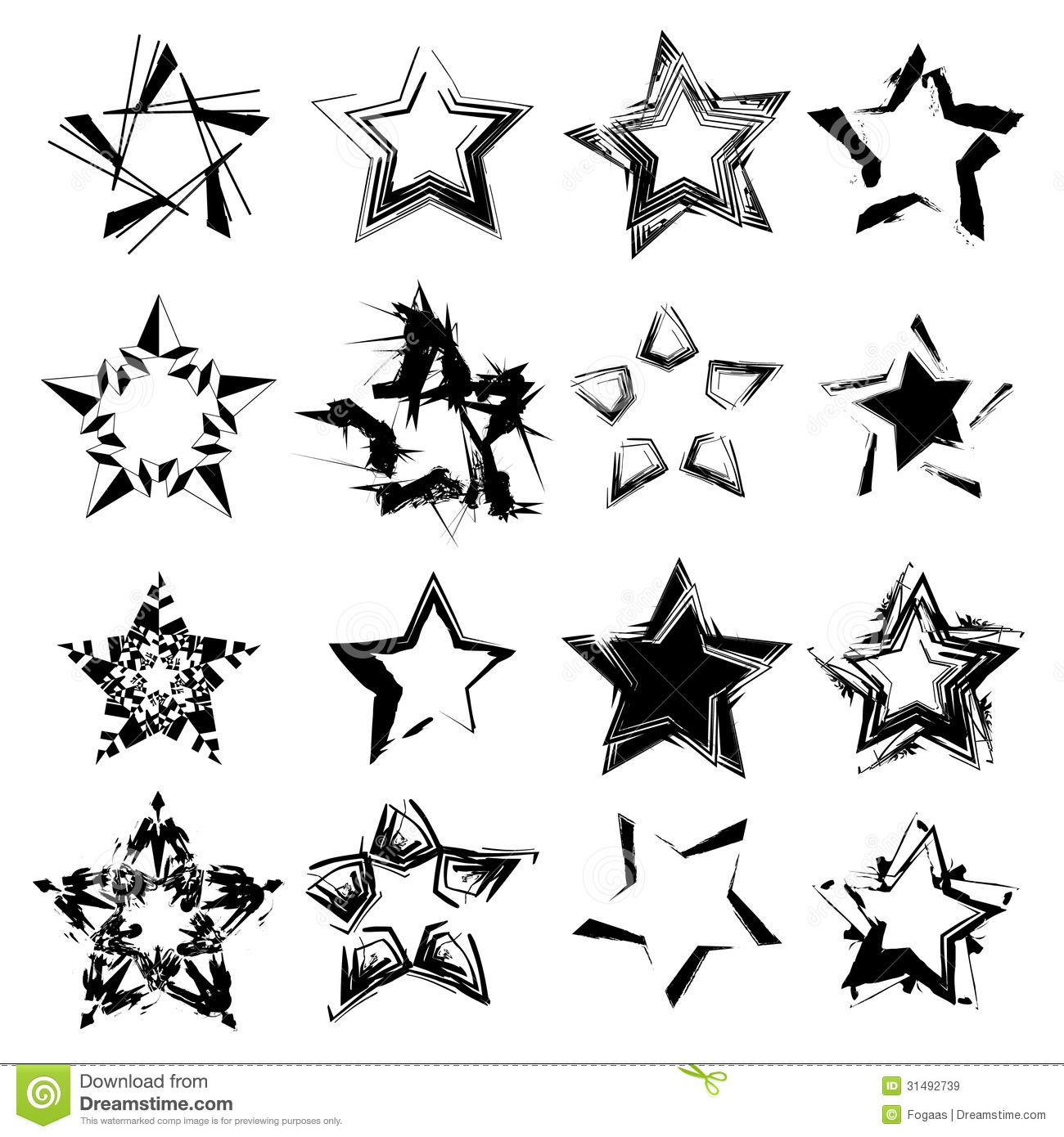 14 White Flag Star Vector Images