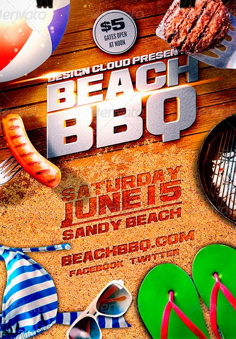 19 BBQ Flyer Template PSD Images BBQ Party Flyer