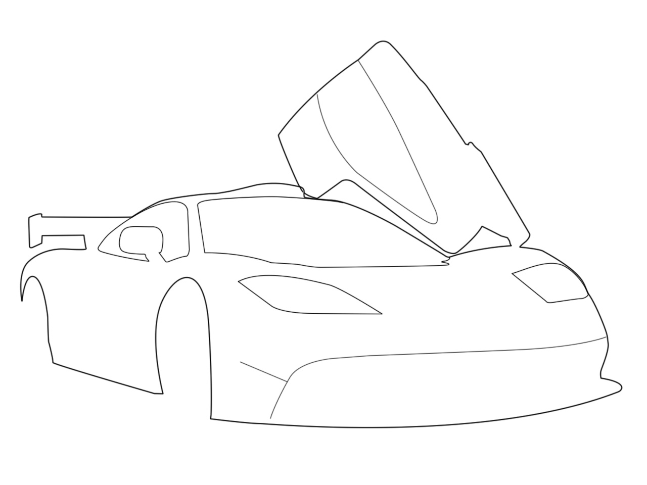 16 Photoshop Drawing Cars Images