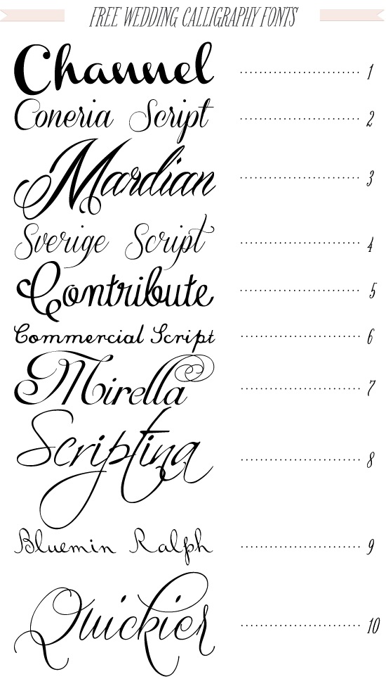13 Font For Invitations Calligraphy Images Free