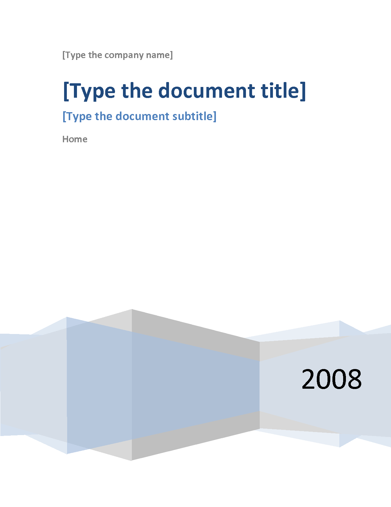 cover page template word 2007