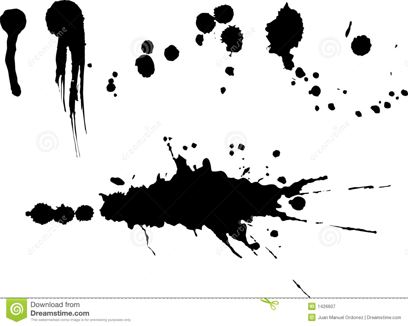 10 Mud Splatter Vector Images