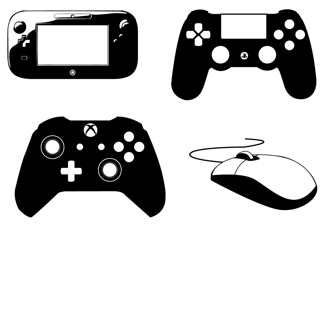 11 Ps4 Video Game Controller Vector Images