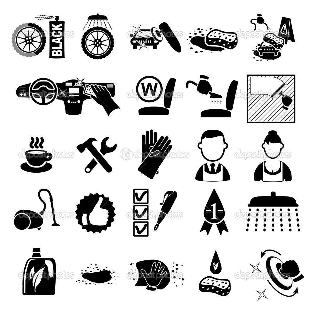 13 Car Wash Vector Icon Images