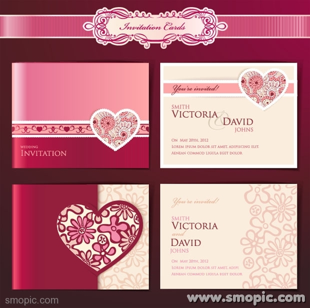 18 Invitation Cards Psd Templates For Weddings Images