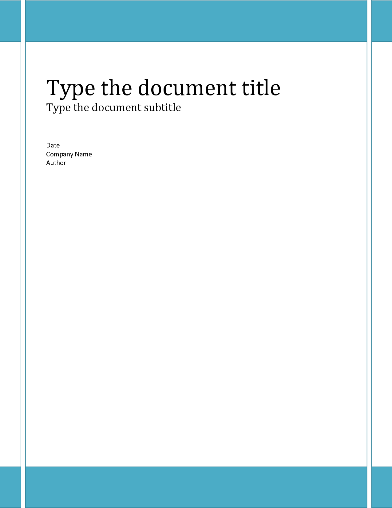 Report Cover Page Templates Free Download Template Examples – Word Cover Page Template Free