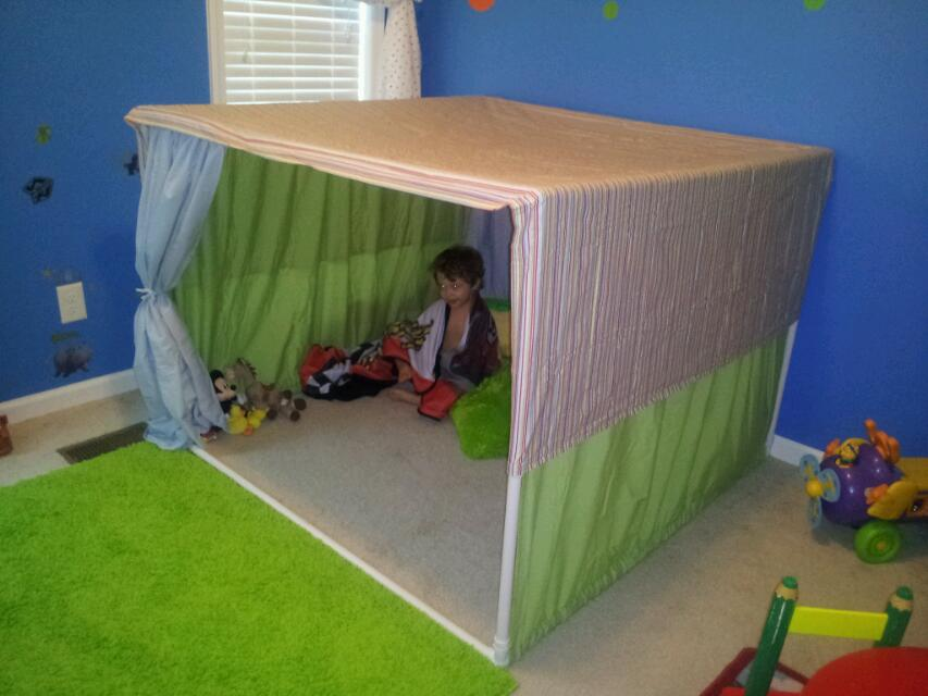 16 PVC Pipe Tent Designs Images PVC Pipe Playhouse Plans