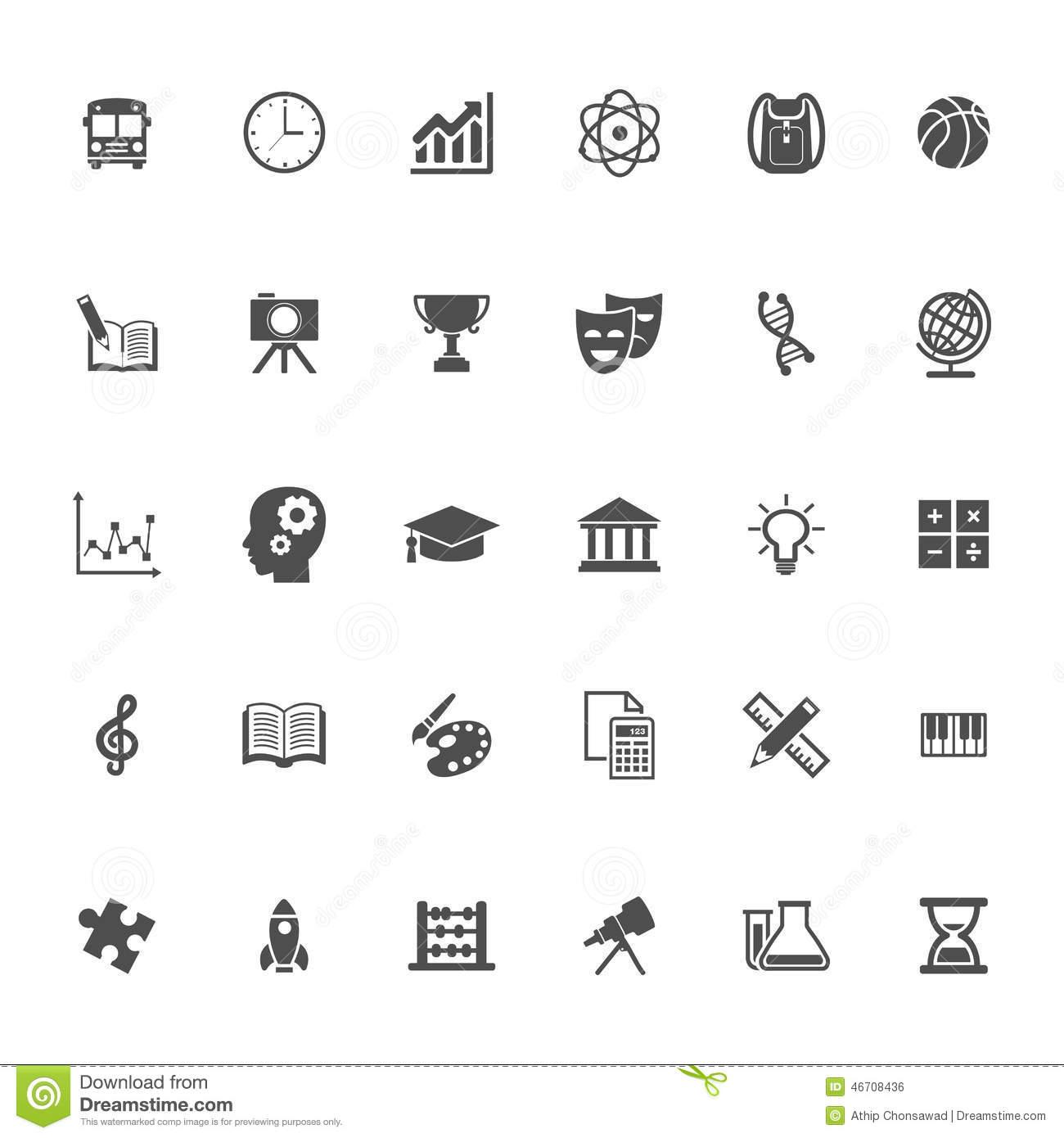15 Education Subjects Icon Set Images