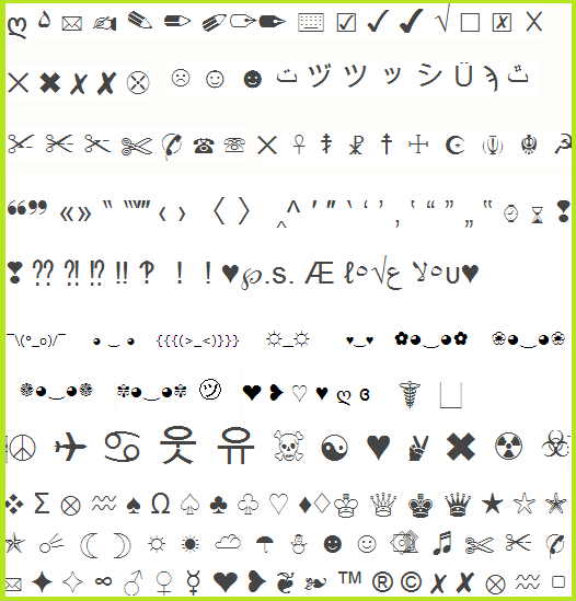 Letter Emoji Copy And Paste Poemsrom