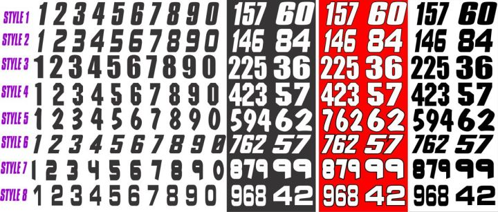 13 Thick Racing Number Font Images Race Car Fonts