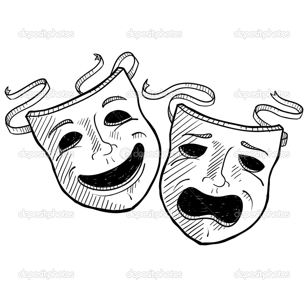17 Drama Mask Vector Graphic Images