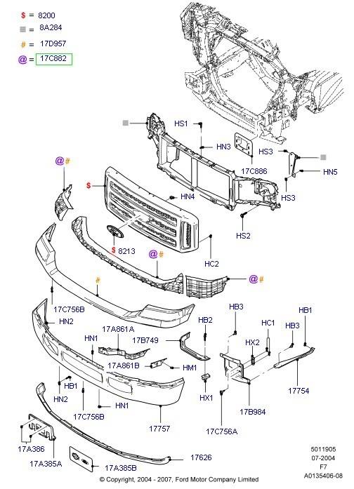 2004 F150 Body Parts Diagram