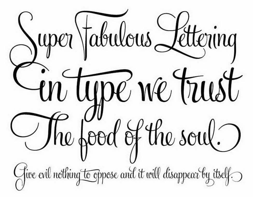 12 Free Cursive Handwriting Fonts Images