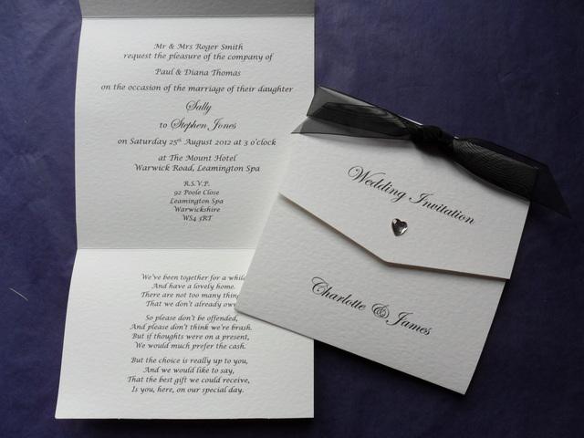 Tri Fold Wedding Invitation 12016