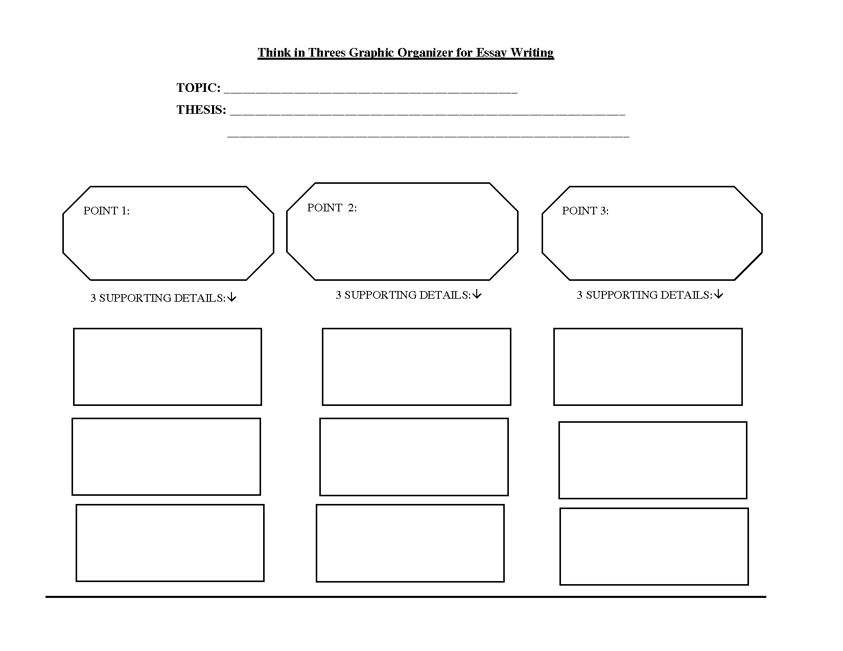 Business Writing Graphic Organizer