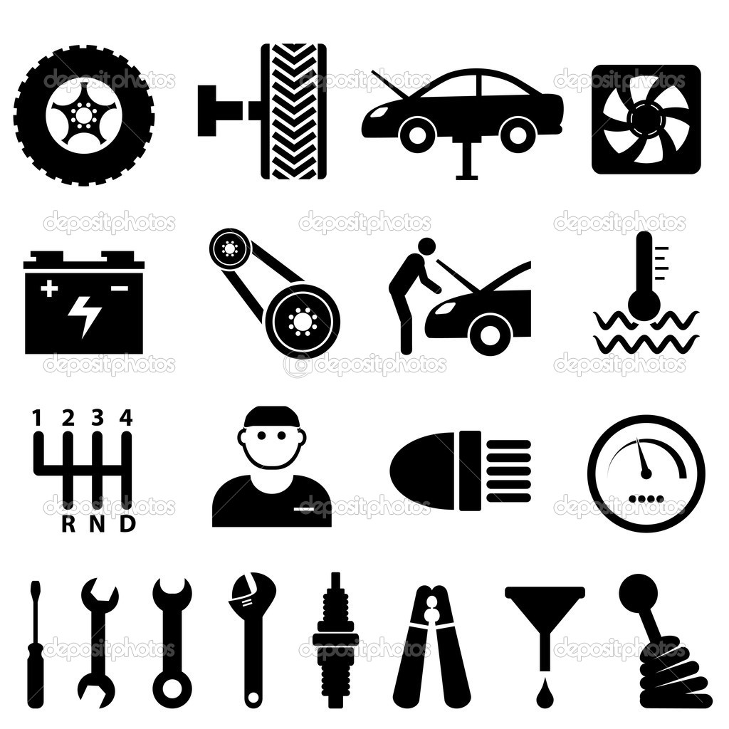 12 Auto Maintenance Icons Images