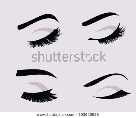 Closed Eyelashes Clipart