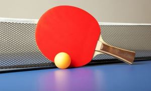 table tennis and bat
