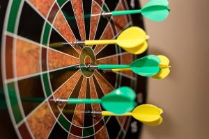 board with darts