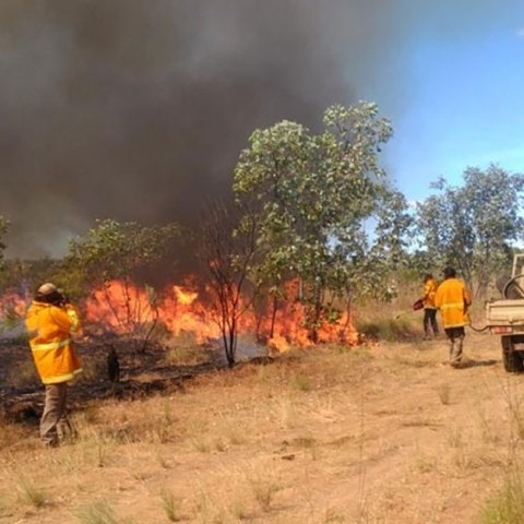 Prescribed burning in Arnhem Land by the Indigenous rangers (Photo courtesy Jimmy Morrison)