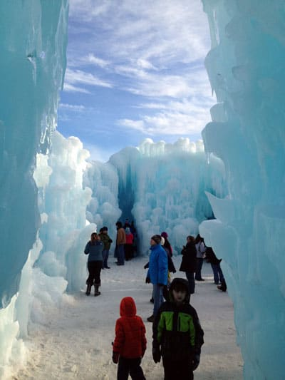 The Ice Castle in Lincoln, NH just an absolute stunning piece of work that is a must for any family of New England!