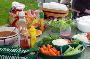 Table with Veggies