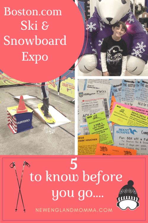 What to know before you go to the Boston Ski Expo! Great tips - We go every year with the kids too!!! So much fun and so much to do!