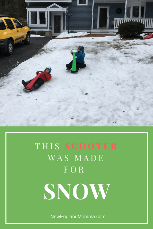 Looking for a sled that goes great even on a little bit of snow? These Scooters are the best!