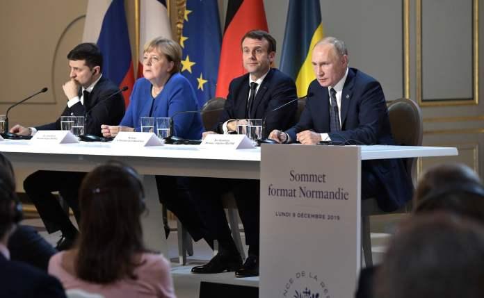 Zelensky Merkel Macron Putin 2019 12 10 01