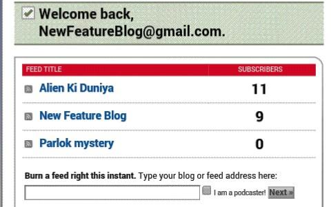 feedburner email subscription newfeatureblog