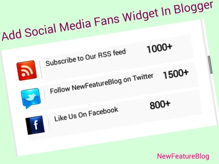 social media fans counter widget ko blog me kaise add kare