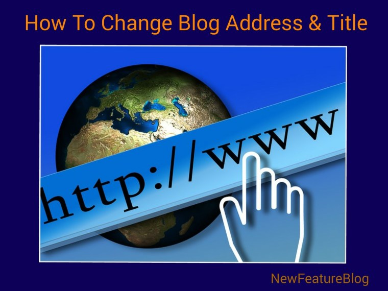 BlogSpot blog address title description ko change kaise kare