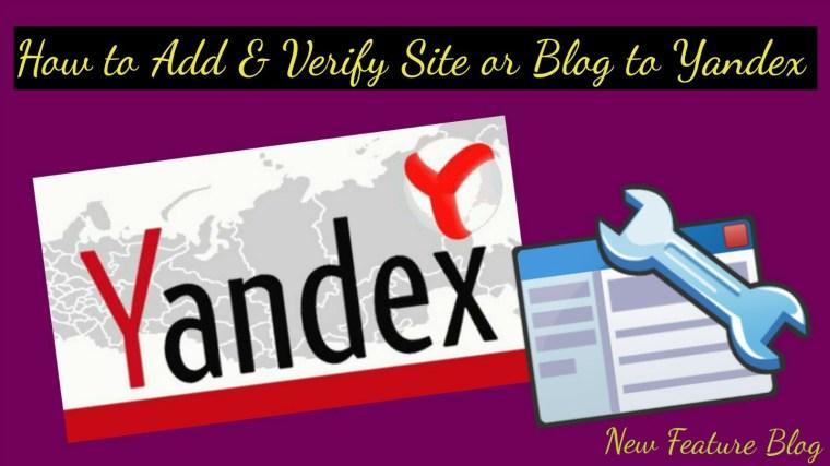 Blog ya website ko yandex webmaster tool me add aur verify kaise kare