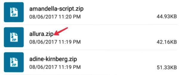 click-on-zip-font
