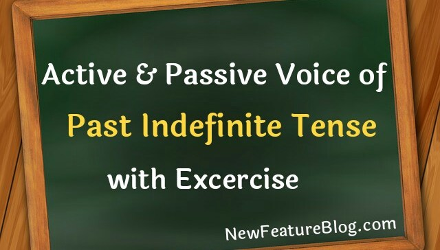 active passive voice of past indefinite tense