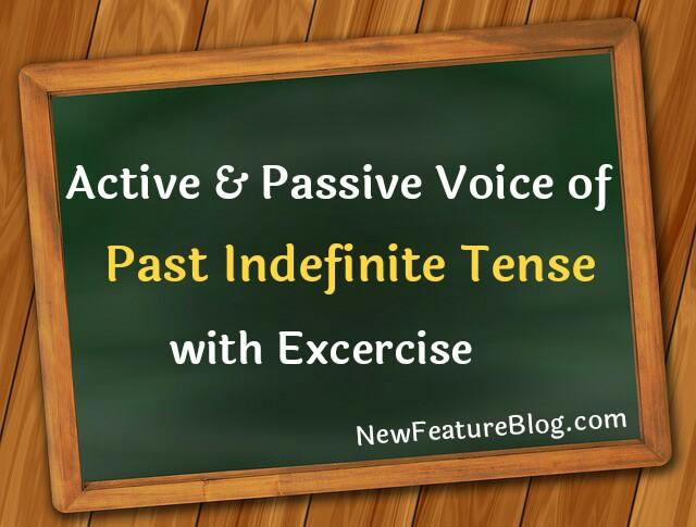 active passive voice of past indefinite tense